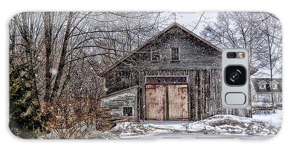 Winter At The Farm Galaxy Case