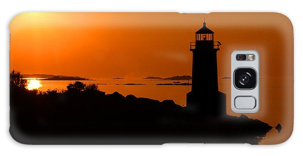 Winter Island Lighthouse Sunrise Galaxy Case