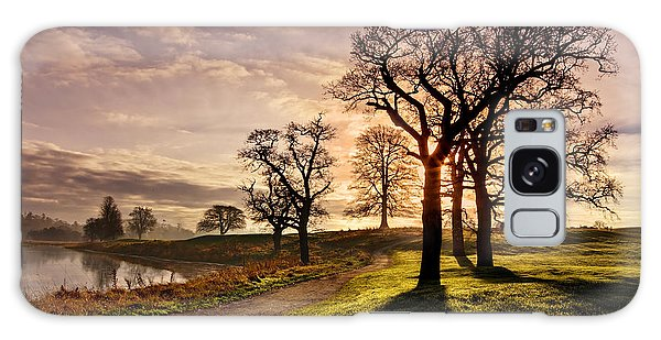 Galaxy Case featuring the photograph Winter Morning Shadows / Maynooth by Barry O Carroll