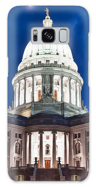 Wisconsin State Capitol Building At Night Galaxy Case