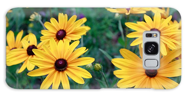 Yellow Daisy Flowers #2 Galaxy Case