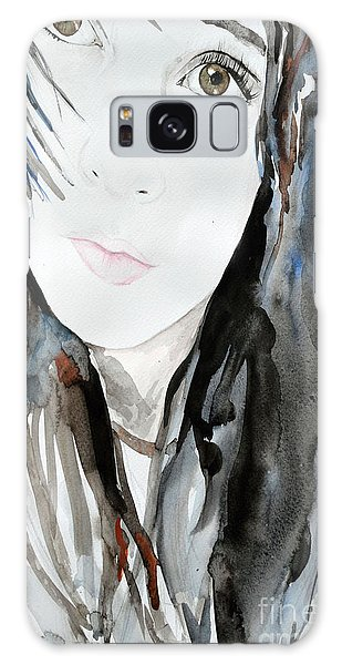 Young Girl Galaxy Case by Ismeta Gruenwald