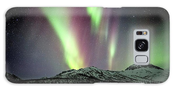 Boreal Forest Galaxy Case - Aurora Borealis In Alaska by Chris Madeley