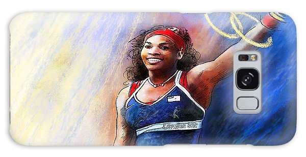 2012 Tennis Olympics Gold Medal Serena Williams Galaxy Case by Miki De Goodaboom