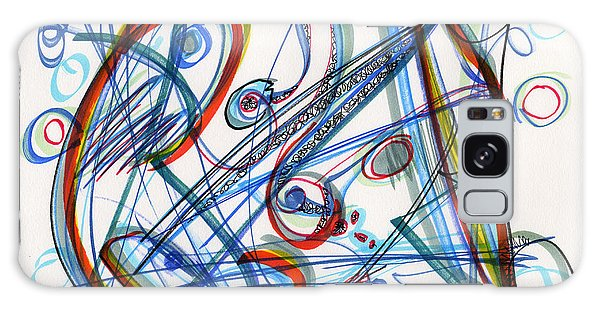2013 Abstract Drawing #12 Galaxy Case