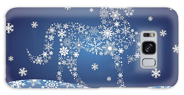 2014 Chinese Horse With Snowflakes Night Winter Scene Galaxy Case