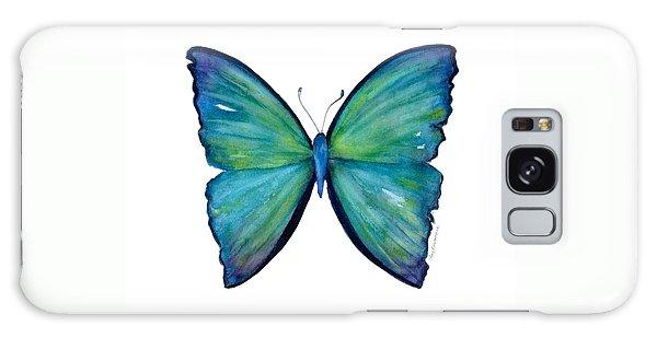 21 Blue Aega Butterfly Galaxy Case