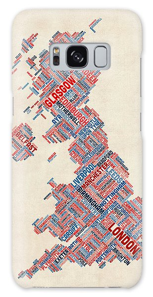 Scotland Galaxy Case - Great Britain Uk City Text Map by Michael Tompsett