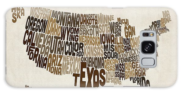 Text Map Galaxy Case - United States Typography Text Map by Michael Tompsett