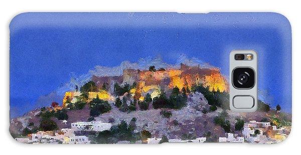 Acropolis And Village Of Lindos Galaxy Case