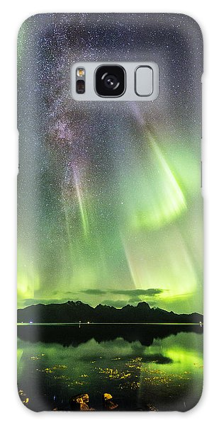 Auroras And Milky Way Galaxy Case