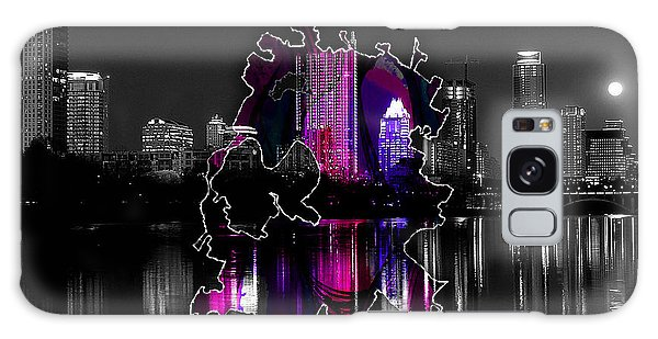 Austin Map And Skyline Watercolor Galaxy Case by Marvin Blaine