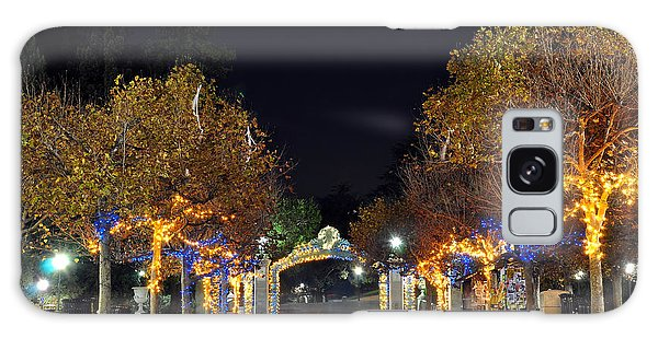 Blue And Gold Sather Gate Galaxy Case