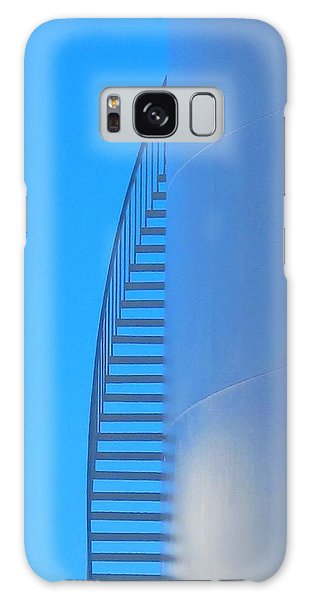 Blue Stairs Galaxy Case by John King