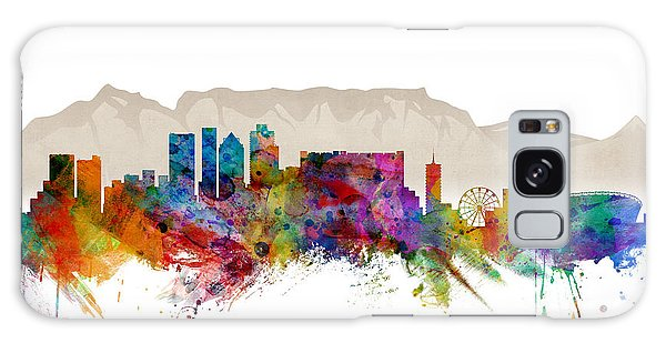 Watercolour Galaxy Case - Cape Town South Africa Skyline by Michael Tompsett