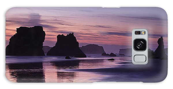 Sea Stacks Galaxy Case - Coastal Reflections by Andrew Soundarajan