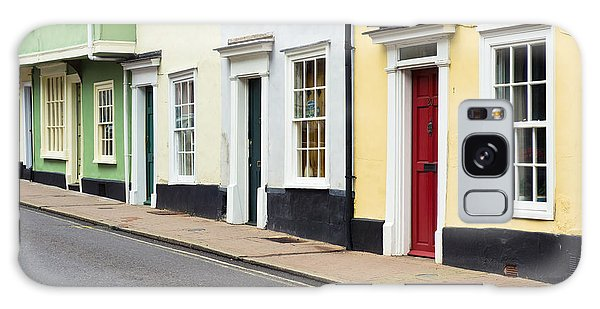 Bury St Edmunds Galaxy Case - Colorful Houses by Tom Gowanlock