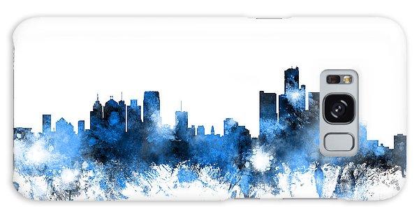 Usa Galaxy Case - Detroit Michigan Skyline by Michael Tompsett