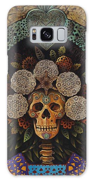 Skull Galaxy Case - Dia De Muertos Madonna by Ricardo Chavez-Mendez