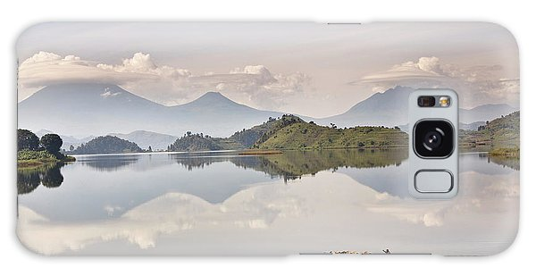 Cloudscape Galaxy Case - Dugout Canoe Floating On Lake Mutanda by Martin Zwick