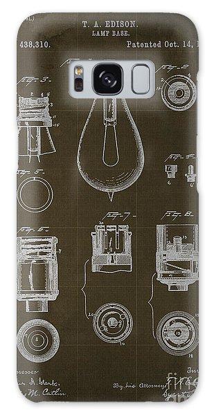 Blueprint Galaxy Case - Edison Lamp Base Patent Blueprint by Drawspots Illustrations