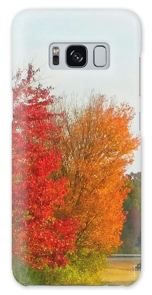 Fall Leaves Galaxy Case by Rose Wang
