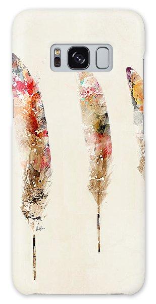 Feathers Galaxy Case - 3 Feathers by Bri Buckley