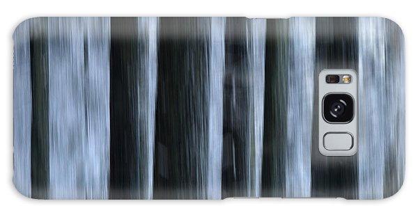 Cold Day Galaxy Case - Forest by Bernard Jaubert