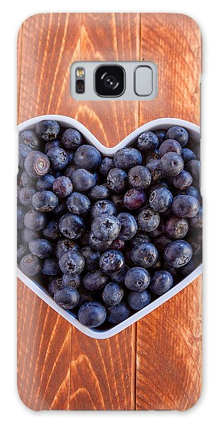 Fresh Picked Organic Blueberries Galaxy Case