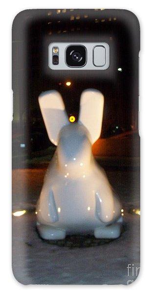 Funny Killer Bunny Galaxy Case by Kelly Awad