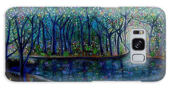 Glistening Forest Lake Galaxy Case
