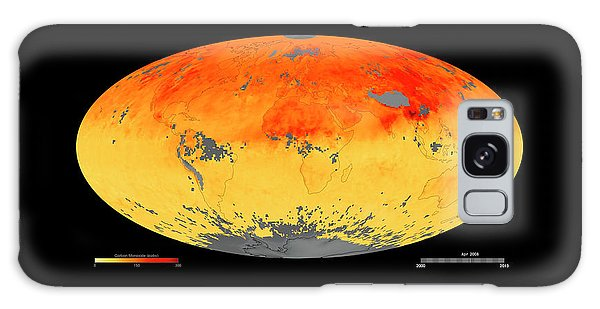 Earth From Space Galaxy Case - Global Carbon Monoxide Levels by Goddard Space Flight Center/nasa Earth Observatory/jesse Allen/nasa