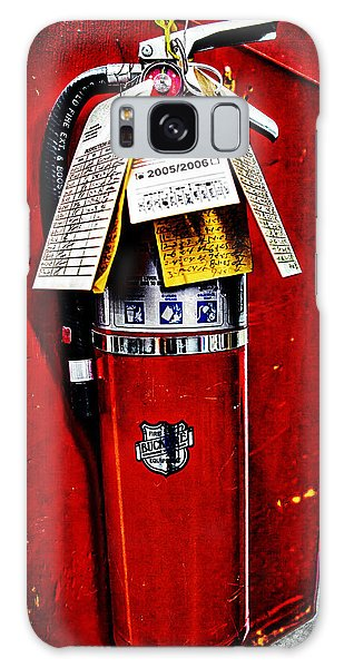 Grungy Fire Extinguisher Galaxy Case