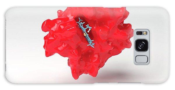 Molecular Biology Galaxy Case - Haemoglobin Molecule by Indigo Molecular Images/science Photo Library