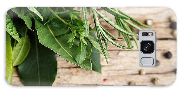 Herbs Galaxy Case - Kitchen Herbs by Nailia Schwarz