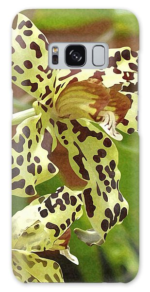 Leopard Orchids Galaxy Case