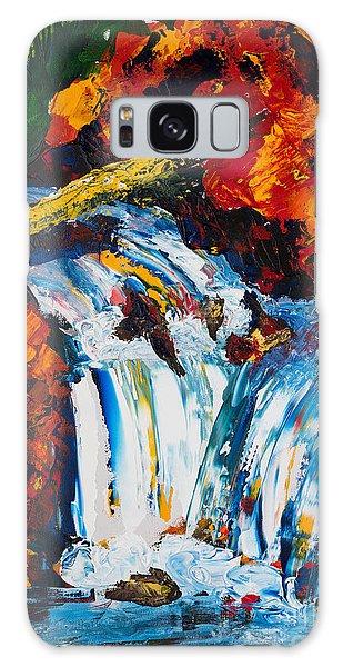 Log And Waterfall Galaxy Case