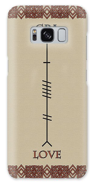 Love Written In Ogham Galaxy Case