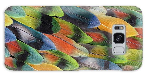 Lovebird Galaxy S8 Case - Lovebird Tail Feather Pattern And Design by Darrell Gulin