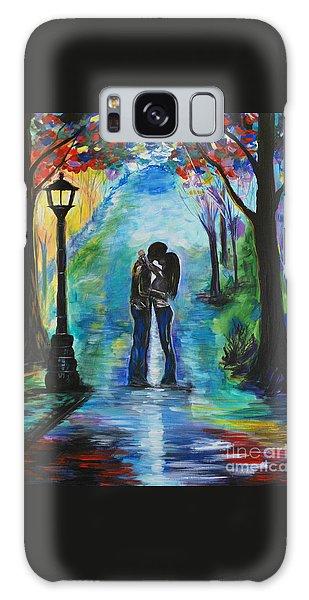 Moonlight Kiss Galaxy Case by Leslie Allen