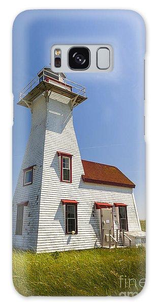 Lighthouse Galaxy Case - New London Range Rear Lighthouse by Elena Elisseeva