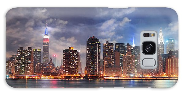 New York City Manhattan Midtown At Dusk Galaxy Case