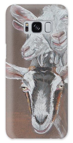 3 Nosey Goats Galaxy Case