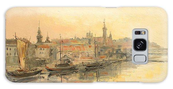 Old Warsaw - Wisla River Galaxy Case