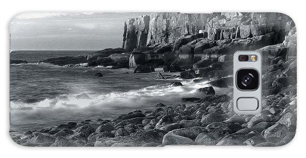 Otter Cliffs Morning Galaxy Case by Stephen  Vecchiotti