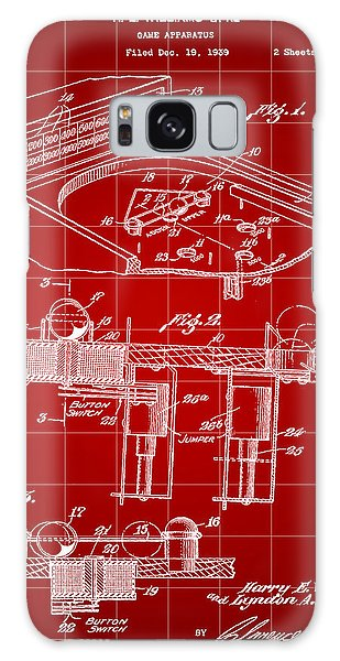 Pinball Machine Patent 1939 - Red Galaxy Case by Stephen Younts