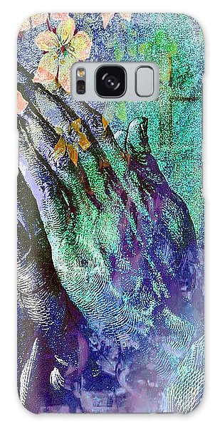 Praying Hands Flowers And Cross Galaxy Case