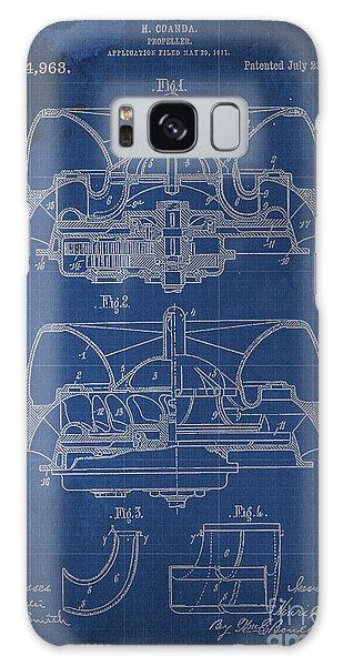 Blueprint Galaxy Case - Propeller Patent 1914 Blueprint by Drawspots Illustrations