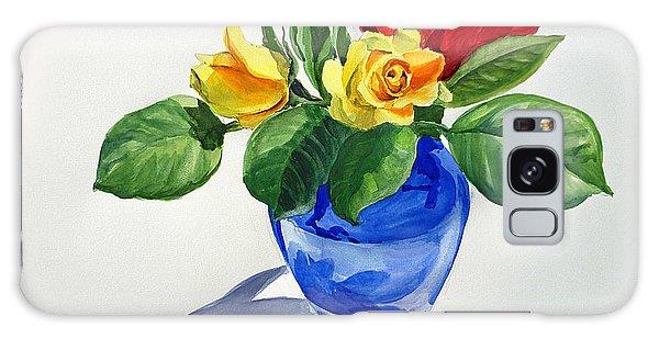 Galaxy Case featuring the painting Roses by Irina Sztukowski