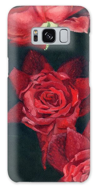 3 Roses Red Galaxy Case by Katherine Miller